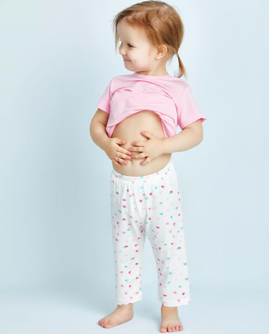 Aimer Baby睡衣|爱慕婴儿爱心兔宝女幼婴七分裤AB1421003