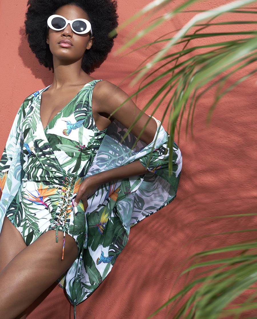 Aimer泳衣|爱慕热带丛林沙滩外披AM602561