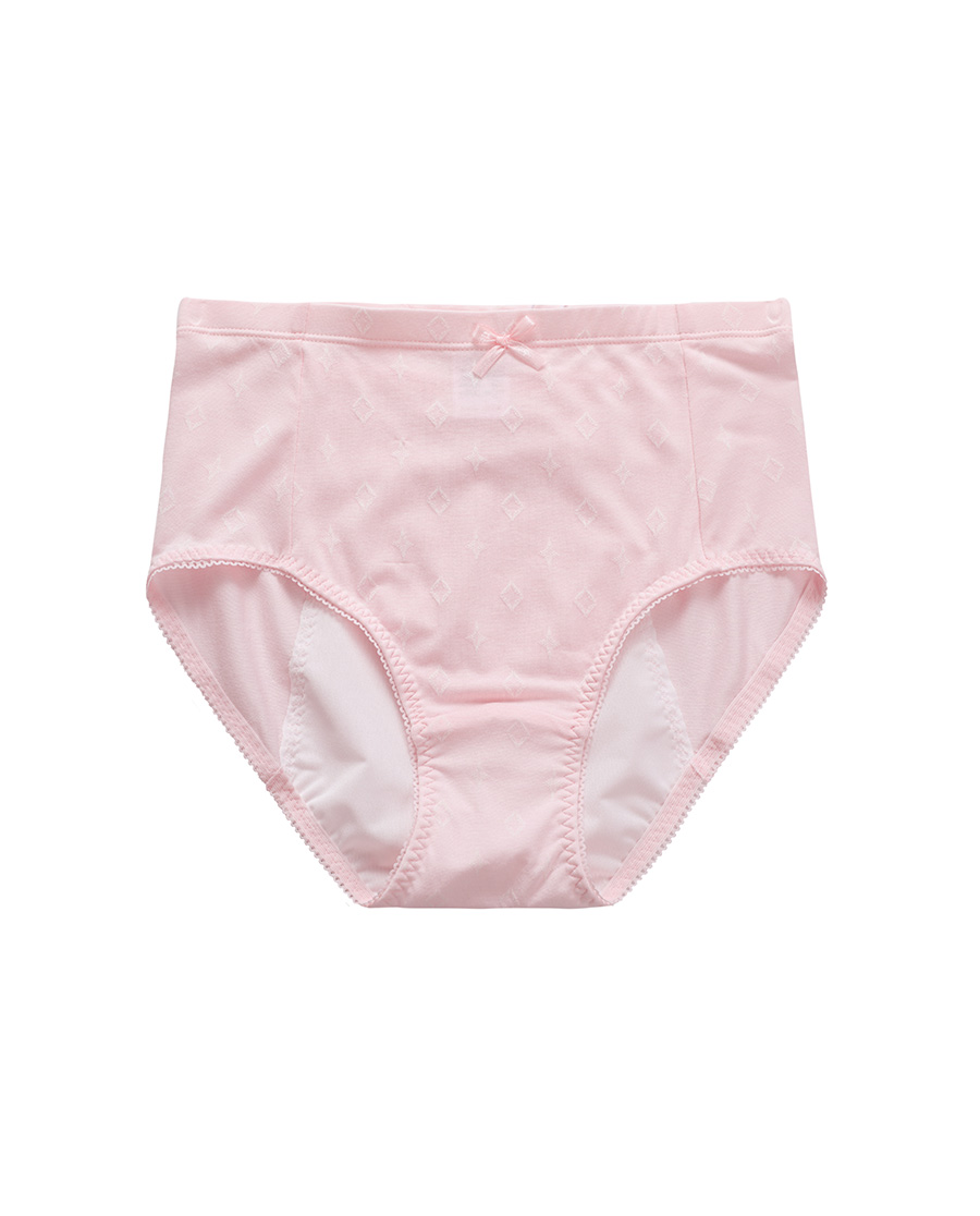 Aimer Junior内裤|爱慕少年闪耀牛奶高腰生理裤AJ1220771