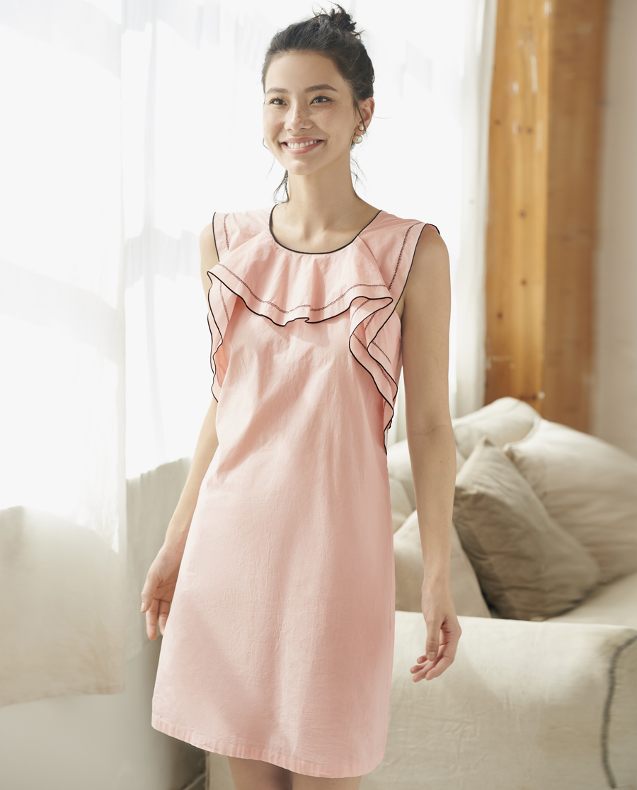 Aimer Home睡衣|爱慕家品恋享丝滑无袖中长睡裙AH440351