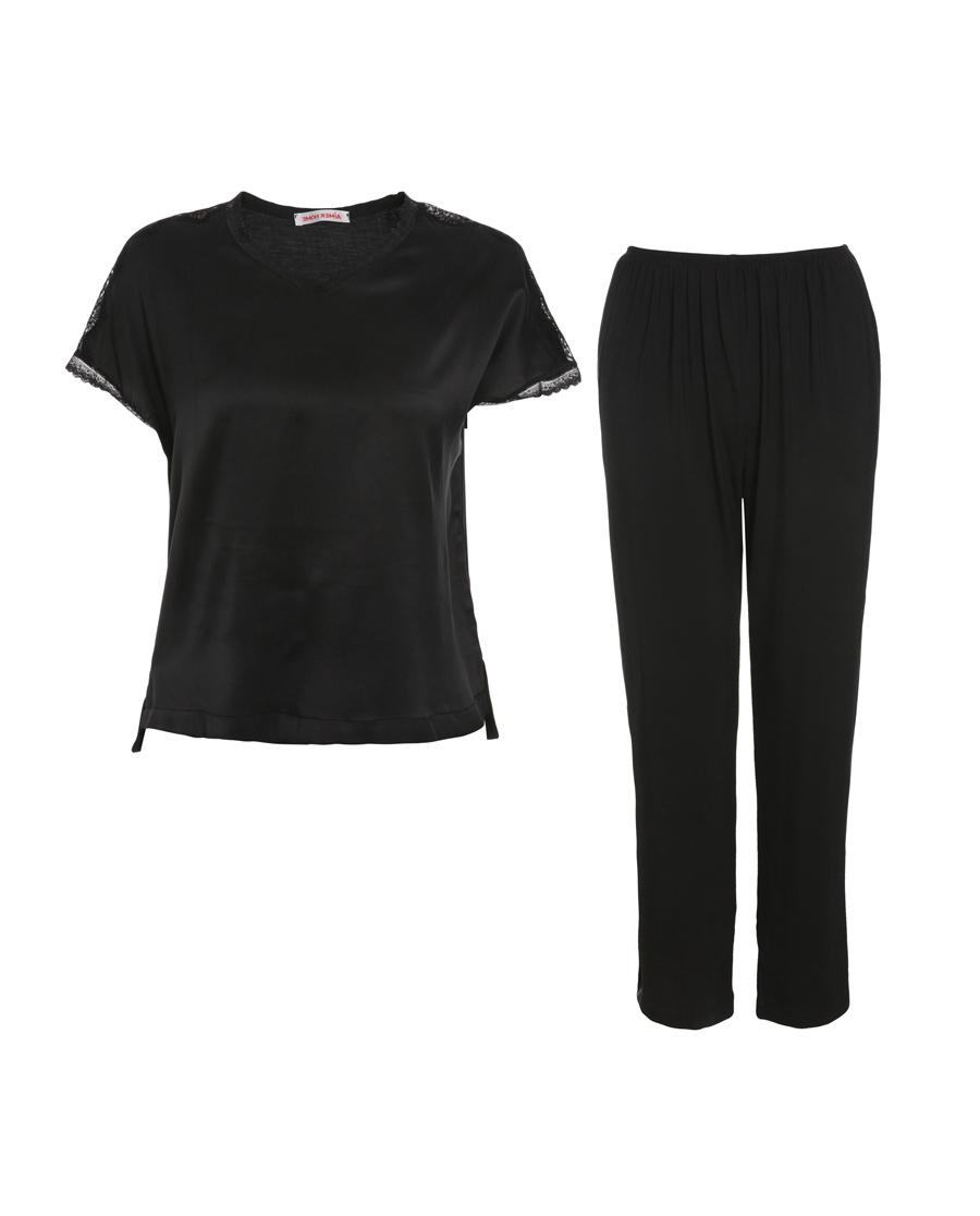 Aimer Home睡衣|爱慕家品悦享柔情短袖分身家居套装AH460391