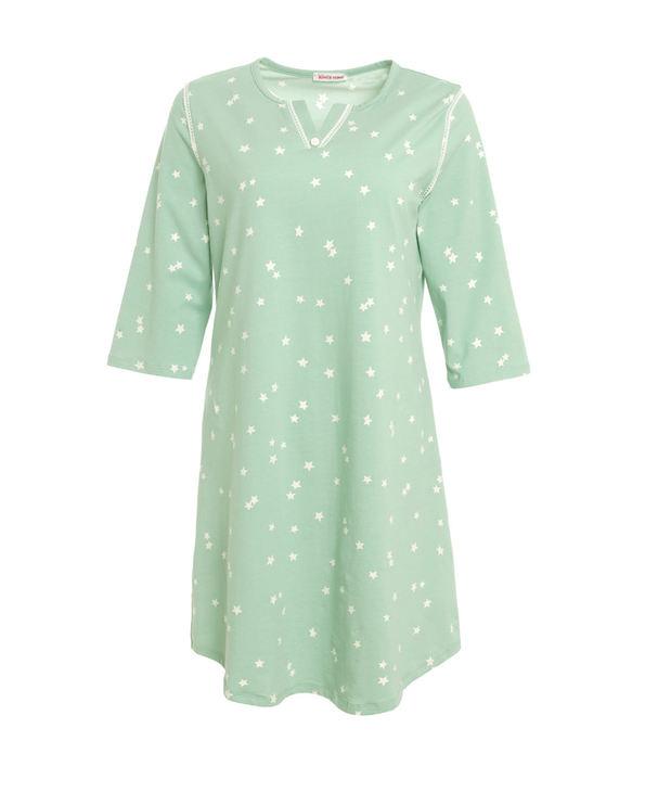 Aimer Home睡衣 爱慕家品星之棉柔六分袖中长睡裙AH440361