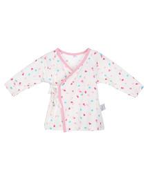 爱慕婴儿爱心兔宝女幼婴系绳长袖上衣AB1411001