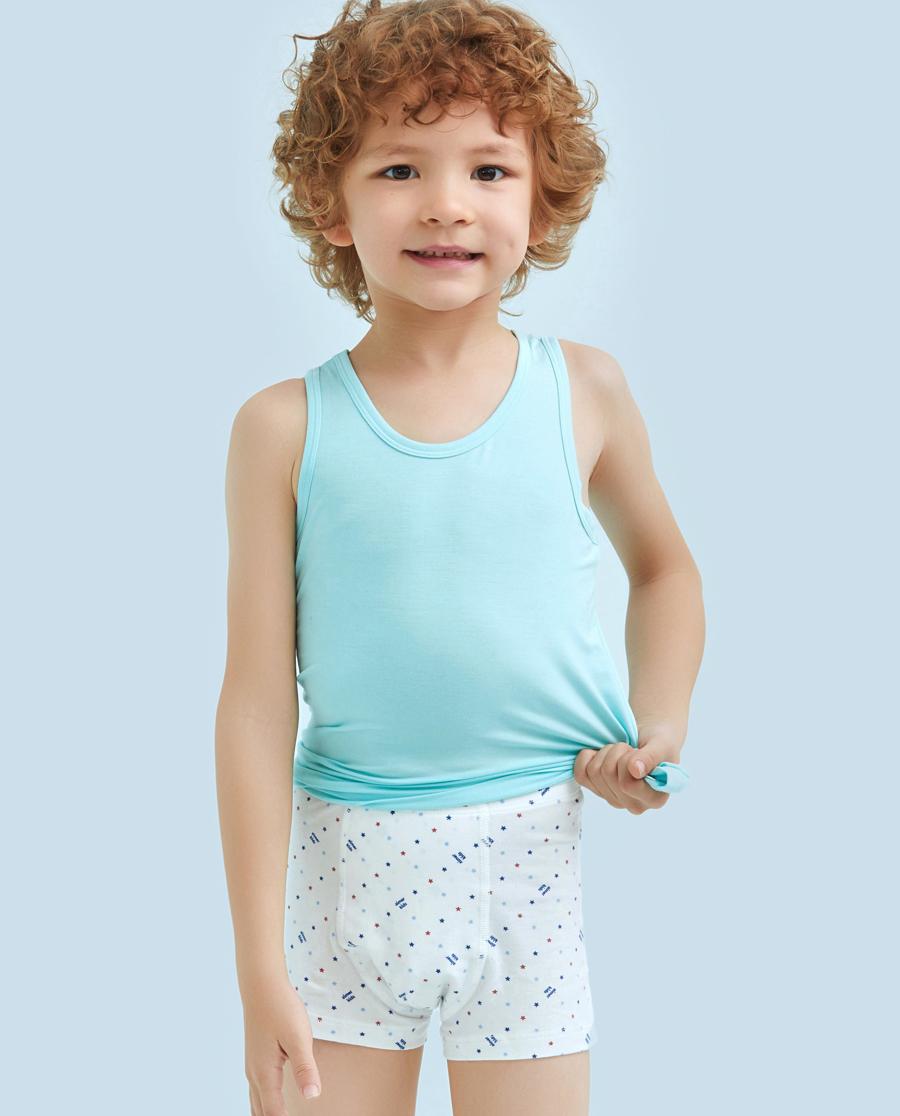 Aimer Kids内裤|ag真人平台儿童天使小裤棉氨纶印花爱星选中腰平角裤AK2231211