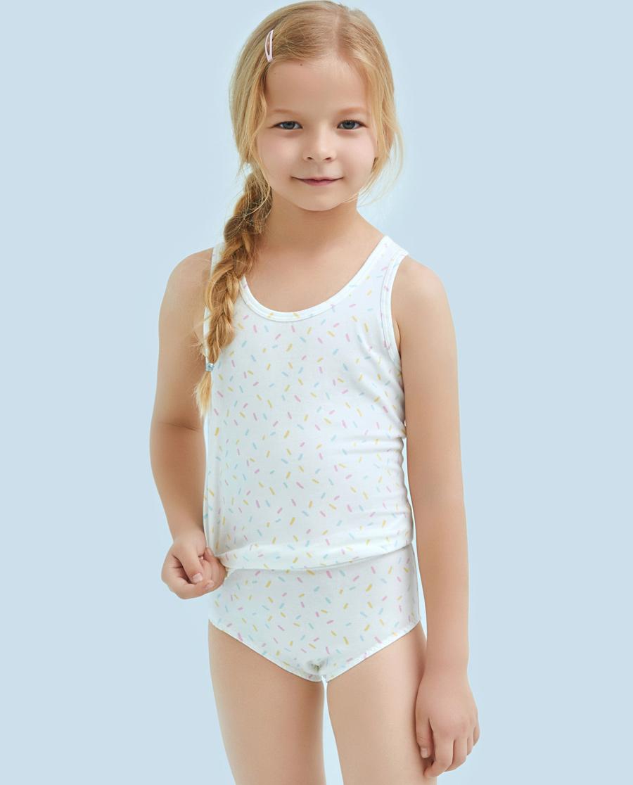 Aimer Kids内裤|爱慕儿童天使小裤棉氨纶印花彩虹糖中腰三角裤AK1221213