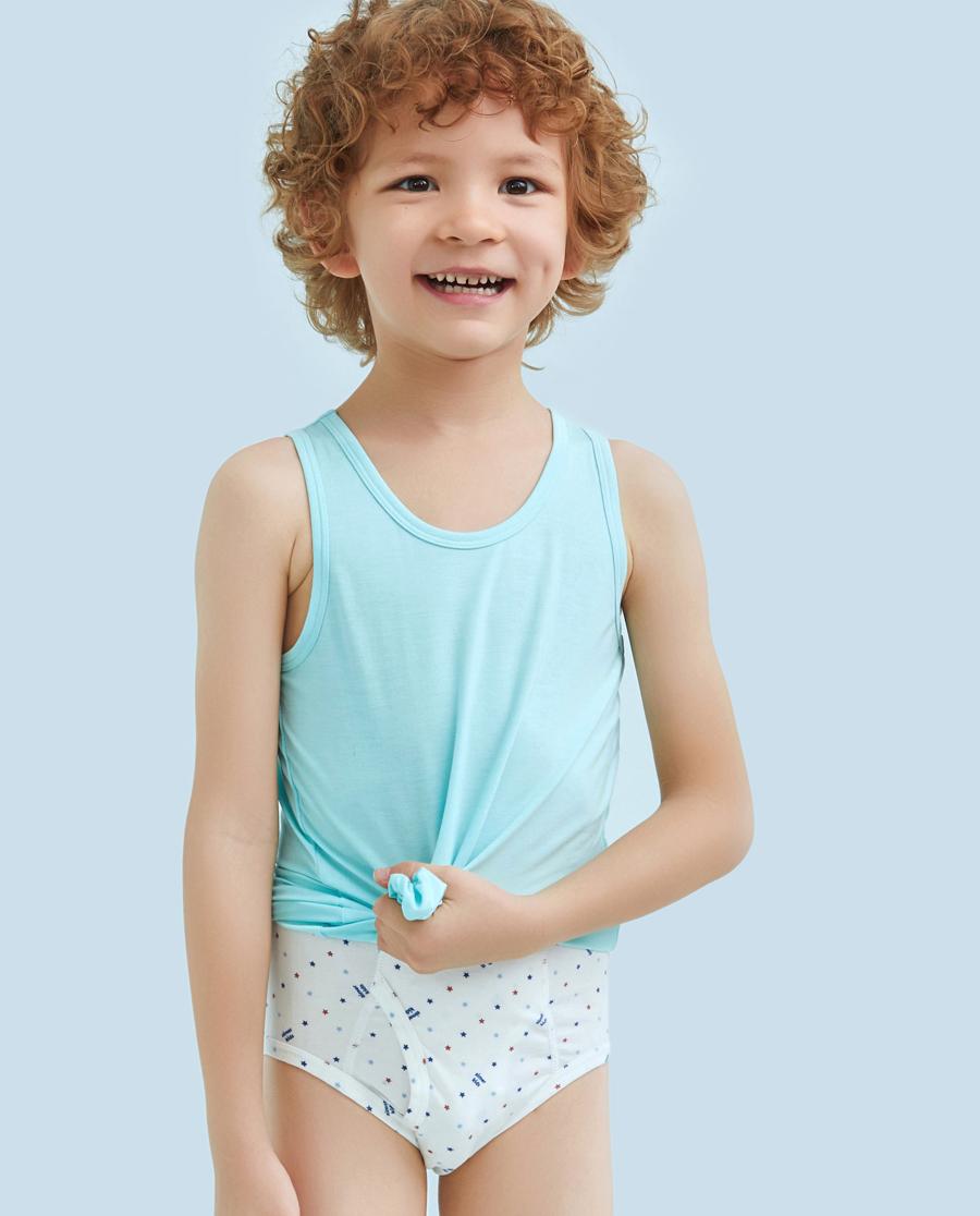 Aimer Kids内裤|ag真人平台儿童天使小裤棉氨纶印花爱星选中腰三角裤AK2221211