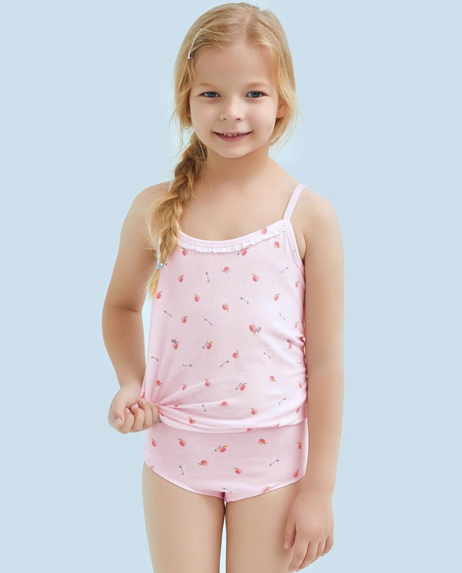 Aimer Kids内裤|ag真人平台儿童天使小裤棉氨纶印花小兔子吃苹果中腰三角裤AK1221211