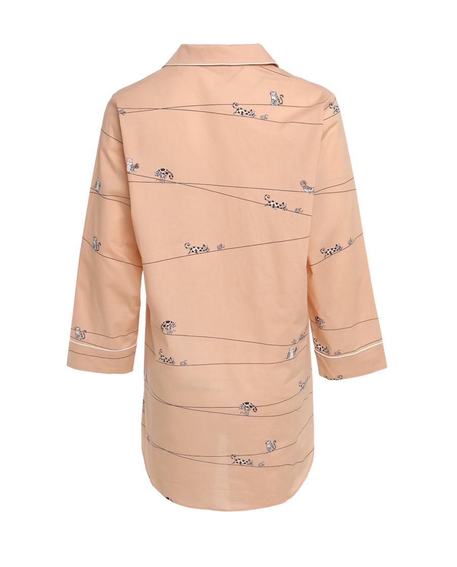 Aimer Home睡衣|爱慕家品趣享生活中长衬衫裙AH440401