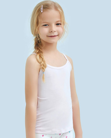Aimer Kids睡衣|爱慕儿童天使背心棉氨纶吊带背心AK1111091