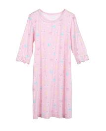 爱慕儿童甜心马卡龙女童七分袖中长睡裙AK1440921