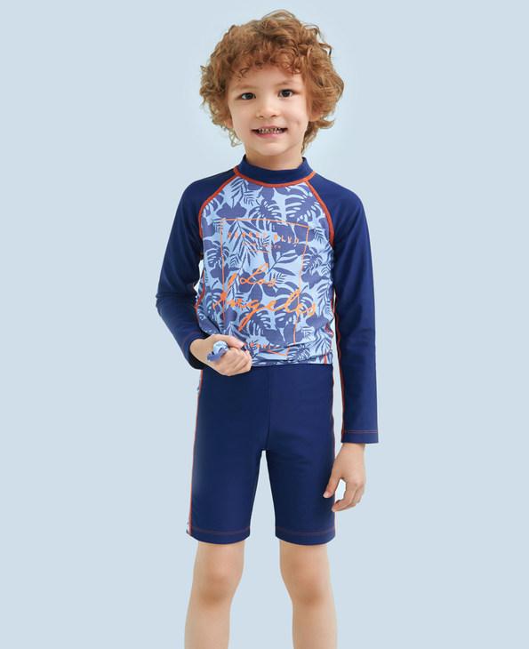 Aimer Kids泳衣|爱慕儿童热带风情男童五分泳裤AK2671472