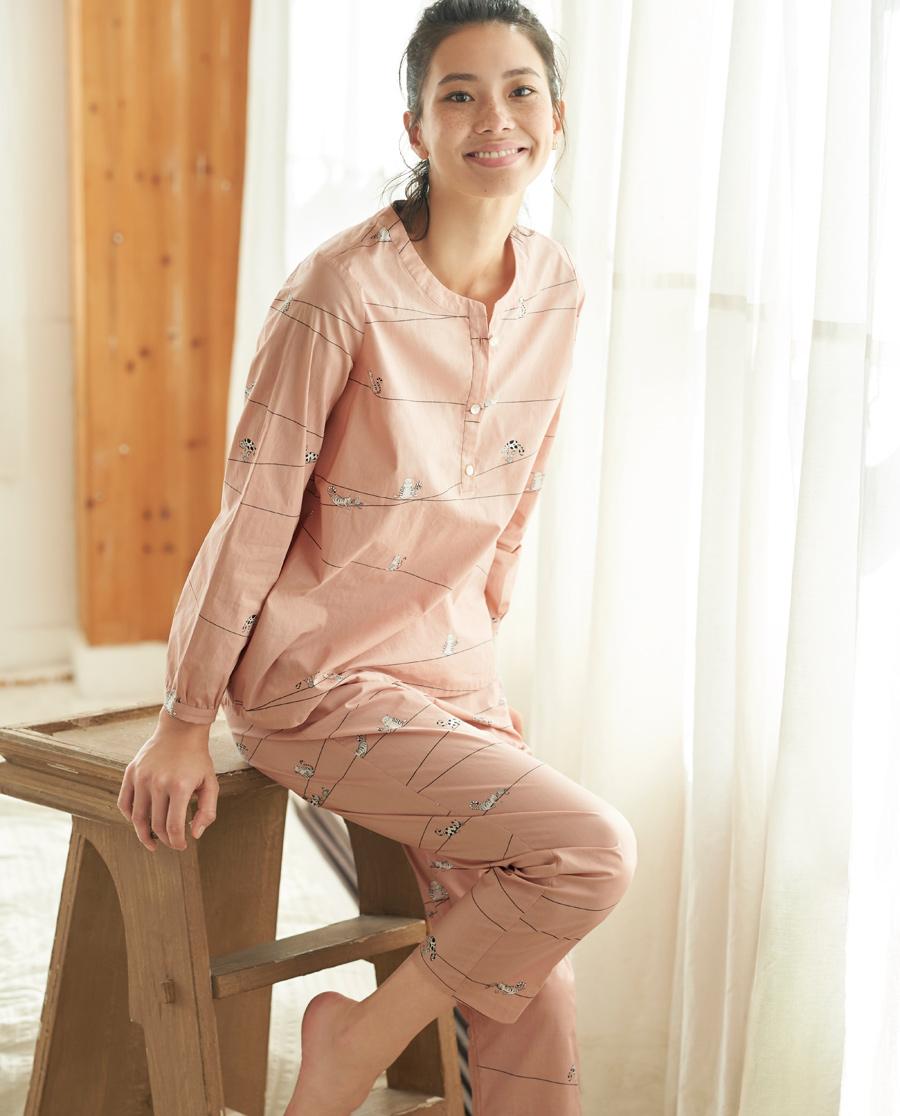 Aimer Home睡衣|爱慕家品趣享生活长袖分身家居套装AH460401