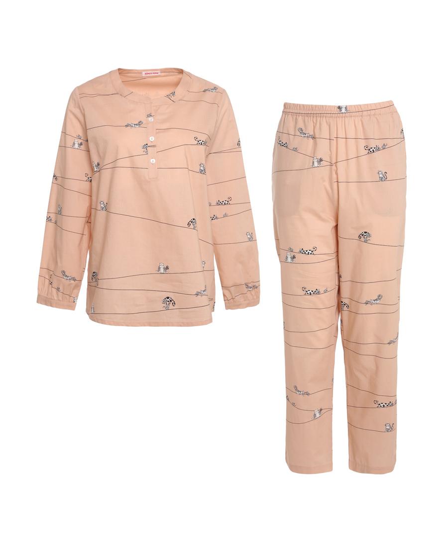 Aimer Home睡衣|爱慕家居趣享生活长袖分身家居套装AH460401