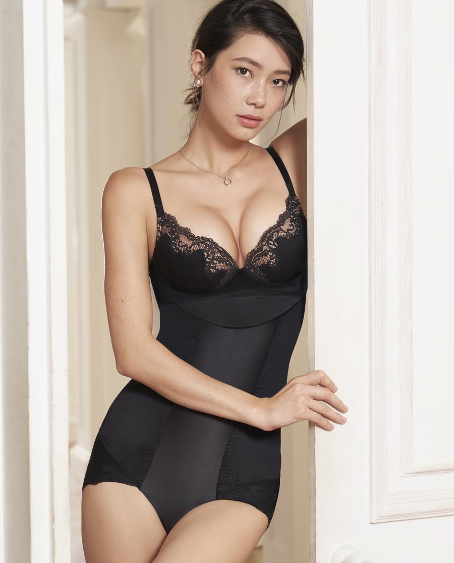 MODELAB美体|爱慕慕澜丝滑美塑中型加高腰平角塑裤AD33D62