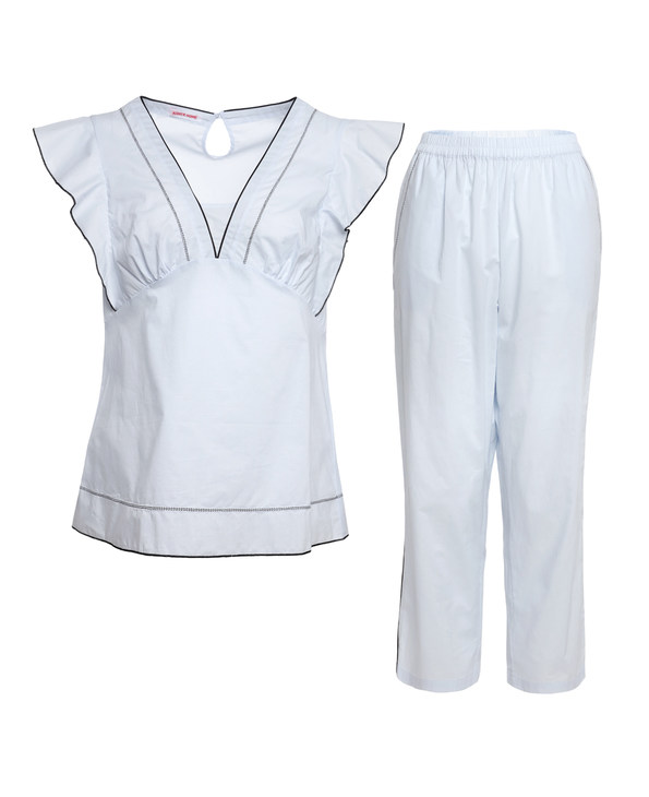 Aimer Home睡衣 爱慕家品恋享丝滑无袖分身家居套装AH460351