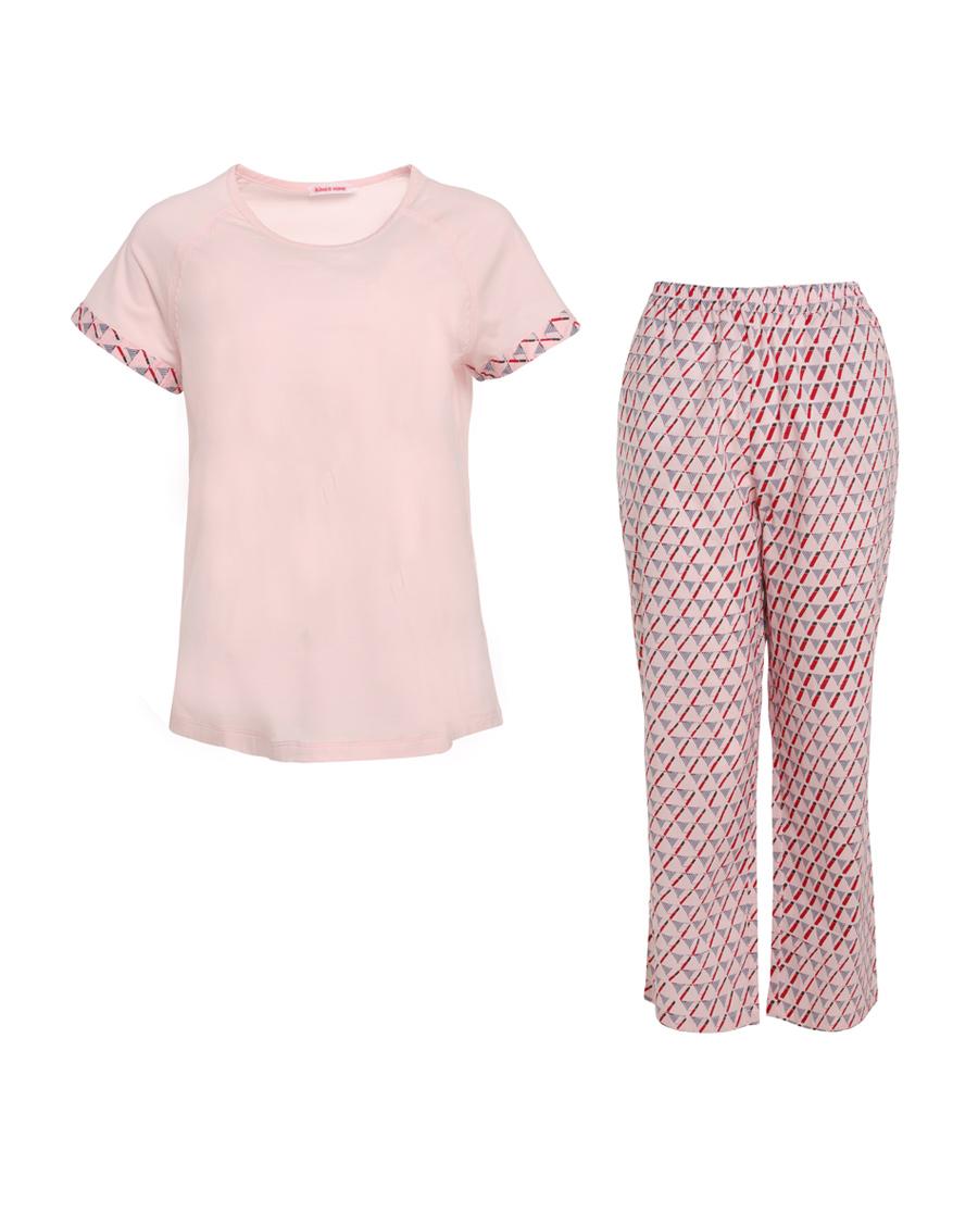 Aimer Home睡衣|爱慕家品温馨家人短袖分身家居套装AH460411