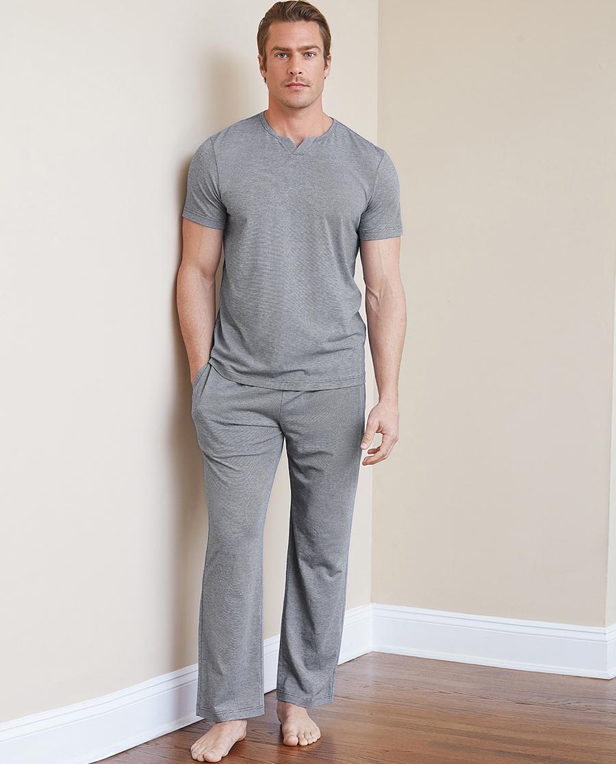 Aimer Men睡衣 ag真人平台先生睡眠家居长裤NS42B861