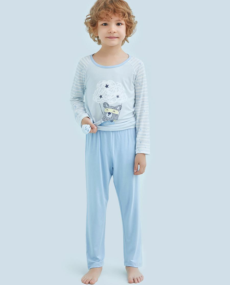 Aimer Kids睡衣|爱慕儿童飞天环游记男童长裤AK2421011
