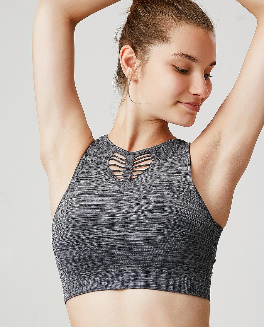 Aimer Sports文胸|ag真人平台运动炽爱瑜伽低强度一体织背心式长文胸AS116F83