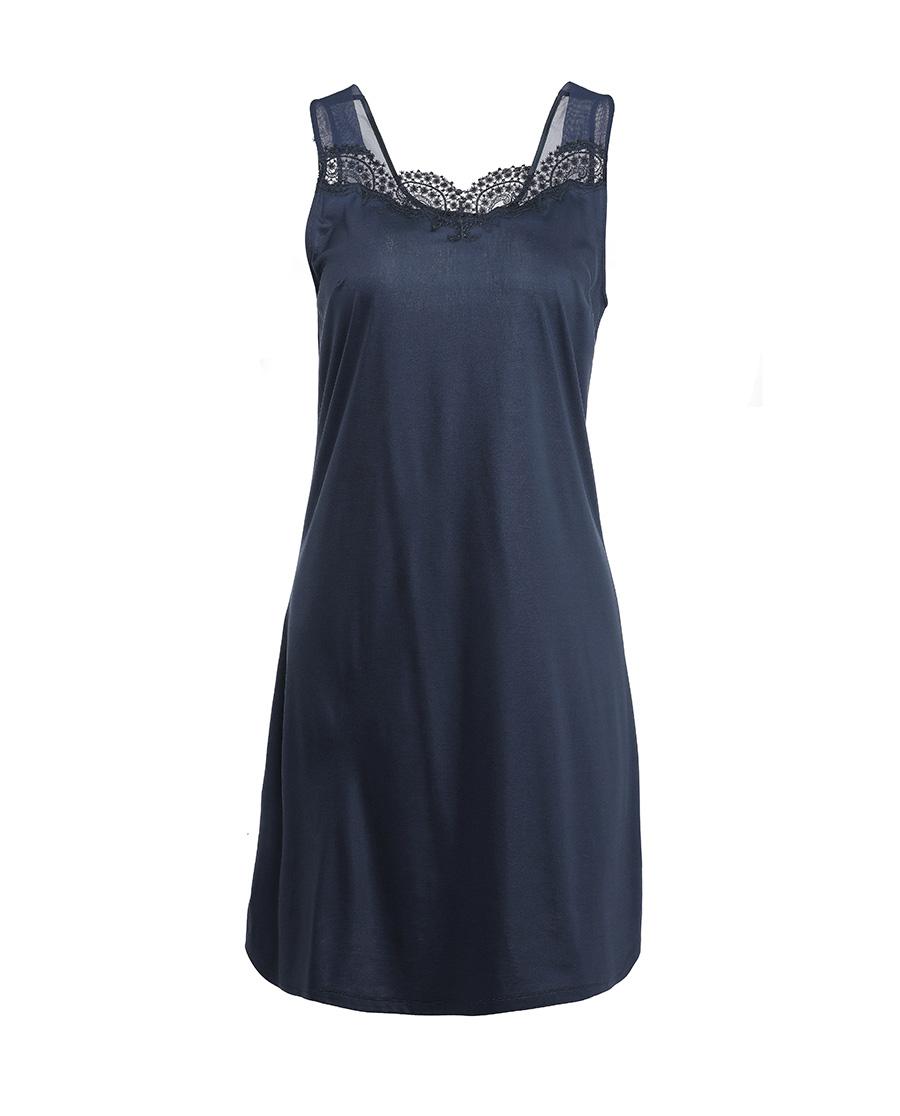 La Clover睡衣|LA CLOVER梦幻华尔兹系列宽肩中长睡裙LC44HX1