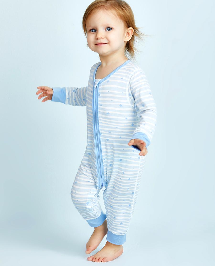 Aimer Baby保暖|爱慕婴儿飞天环游记男幼婴长袖连体爬服AB2751011
