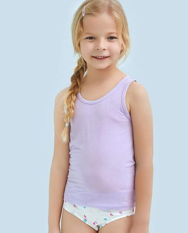 Aimer Kids睡衣|爱慕儿童天使背心modal女童窄肩背心AK1111102