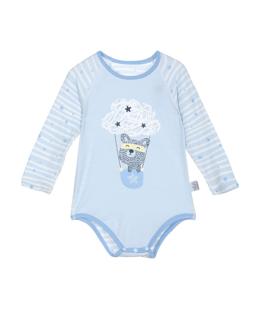 Aimer Baby保暖|爱慕婴幼飞天环游记长袖无腿连体爬服AB2751013