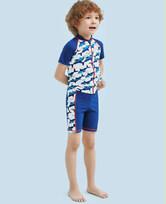 爱慕儿童鲨鱼部落五分泳裤AK2671555