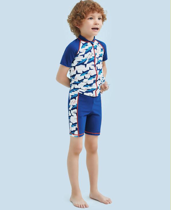 Aimer Kids泳衣|爱慕儿童鲨鱼部落五分泳裤AK2671555