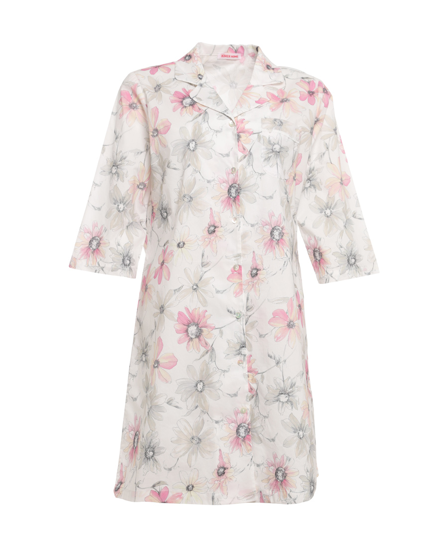 Aimer Home睡衣|爱慕家品罗曼花园衬衫睡裙AH440451