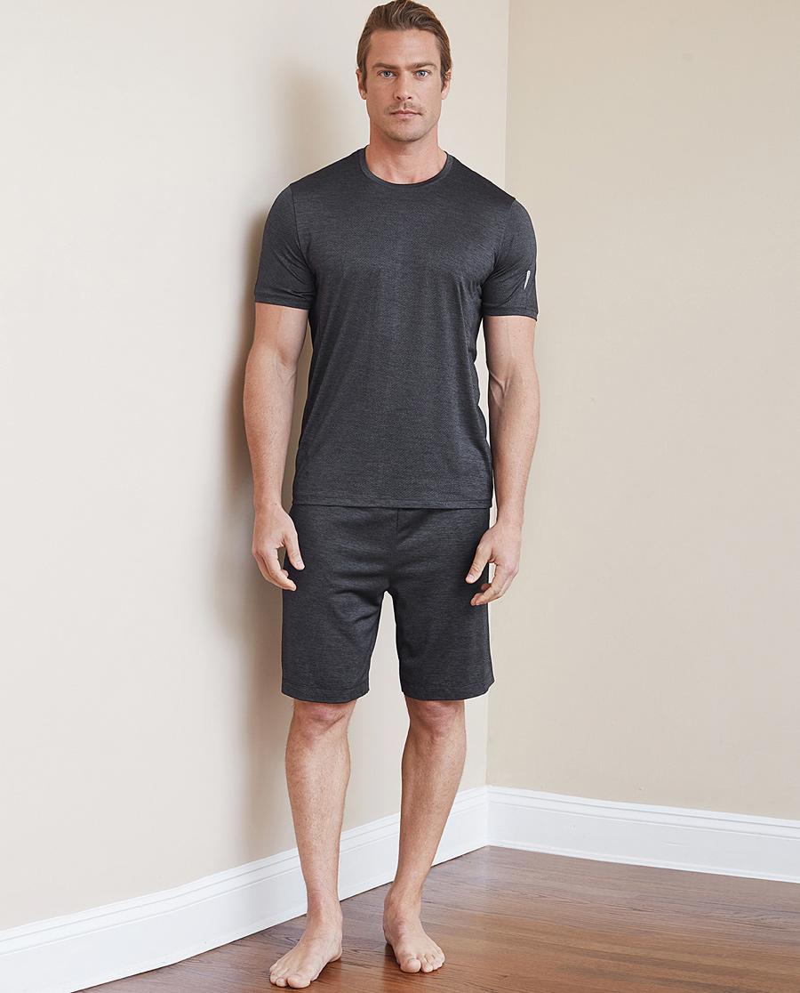 Aimer Men运动装|爱慕先生花灰运动短裤NS63B682