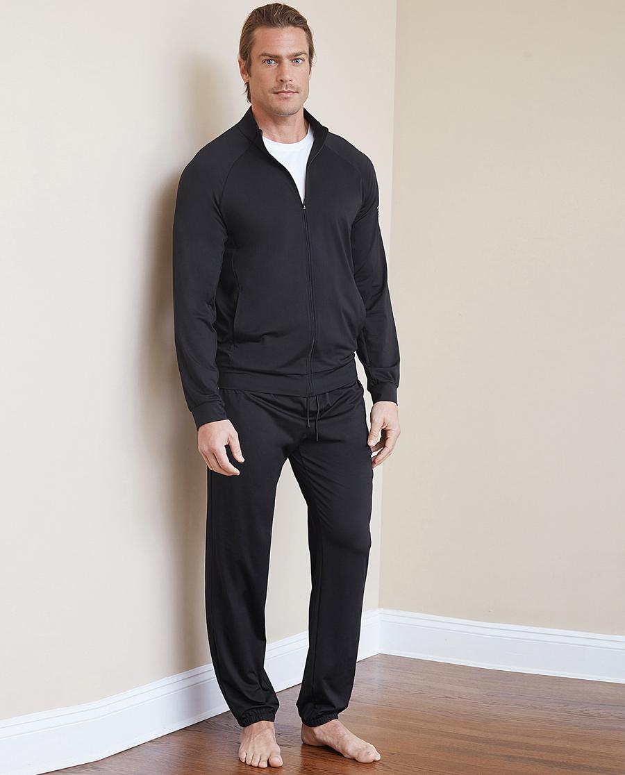 Aimer Men运动装|爱慕先生酷感运动收口反光条长裤NS63B