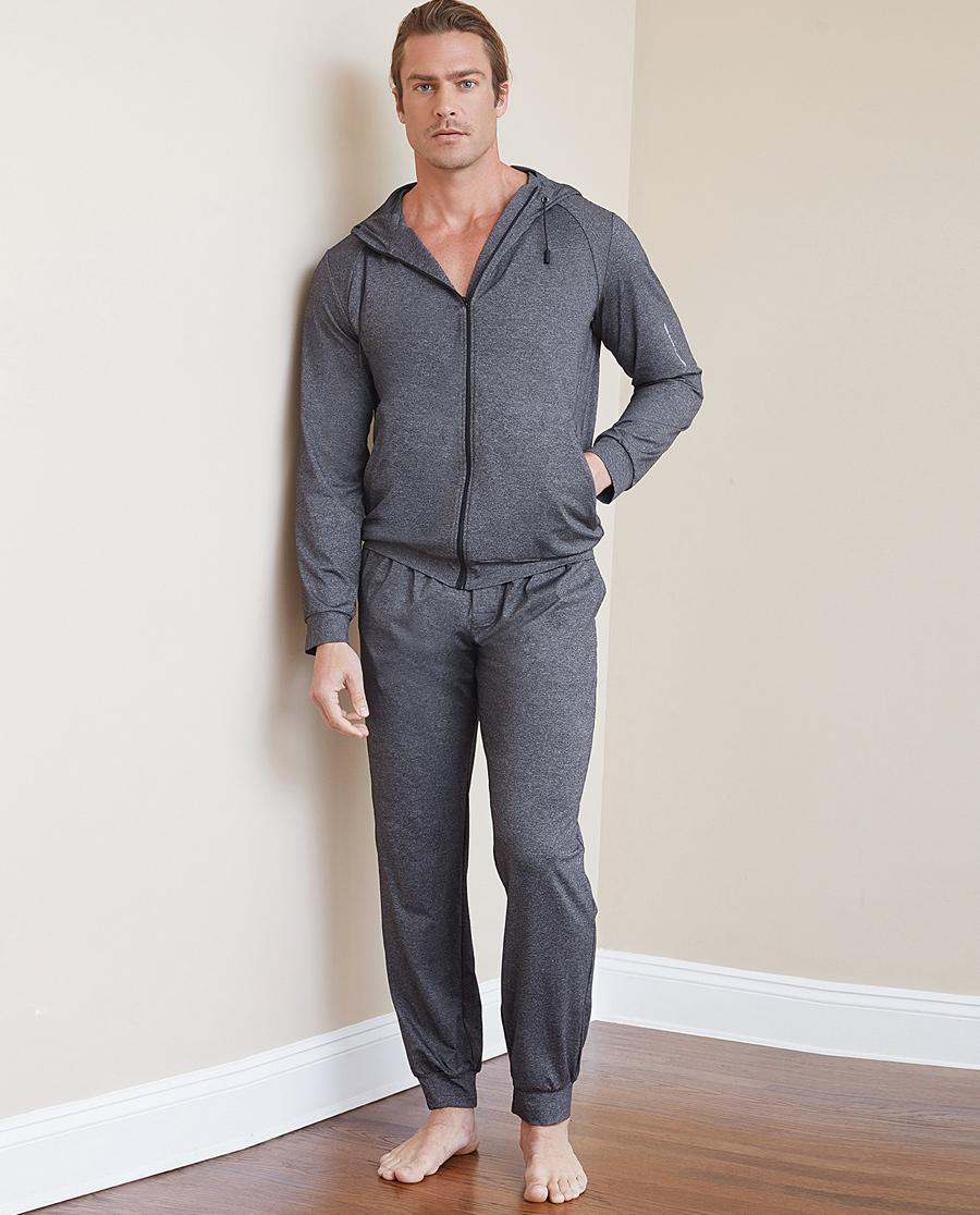 Aimer Men运动装 ag真人平台先生花灰运动收口长裤NS63B683