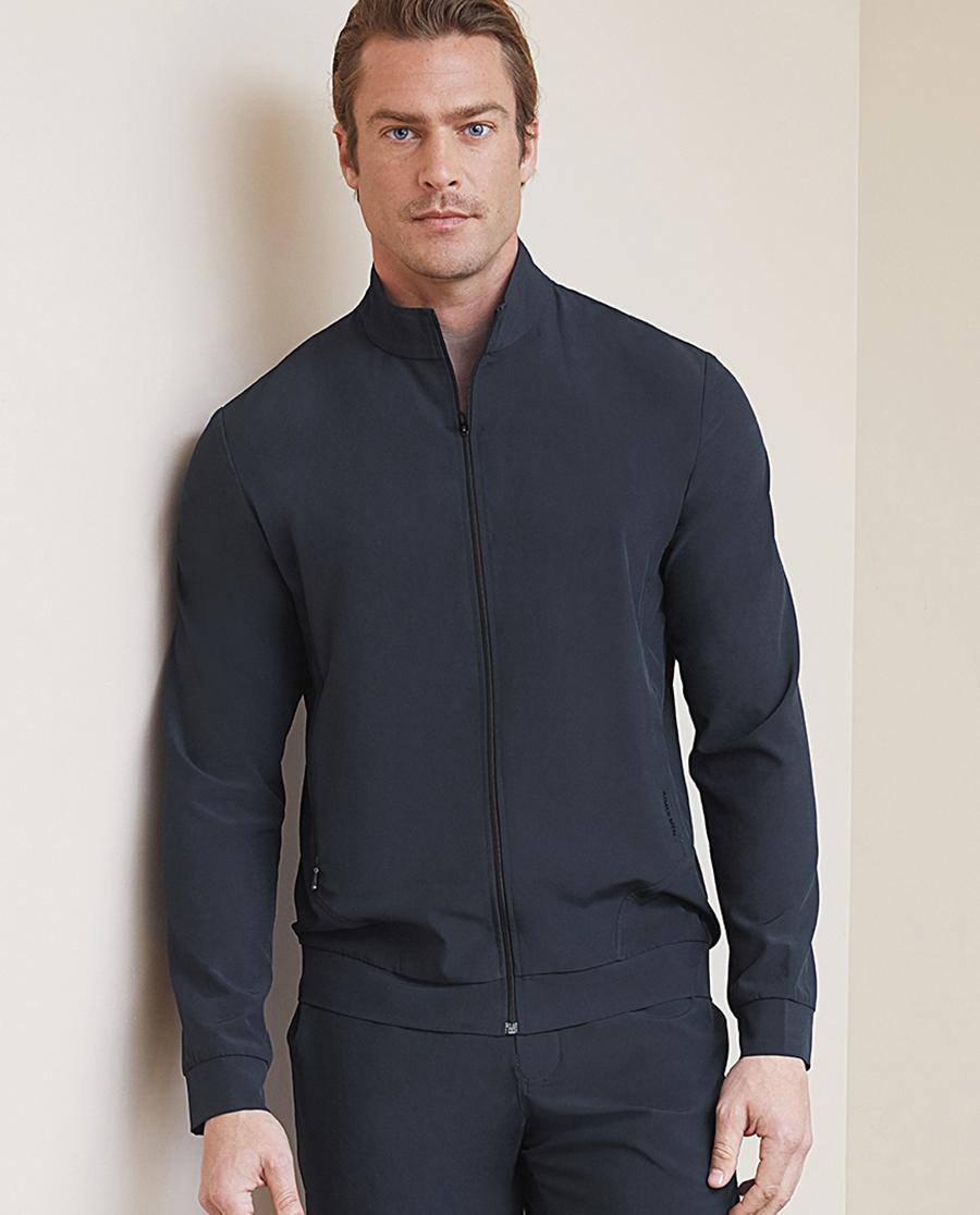 Aimer Men休闲外穿 ag真人平台先生轻休闲系列立领拉链长袖上衣NS81B771
