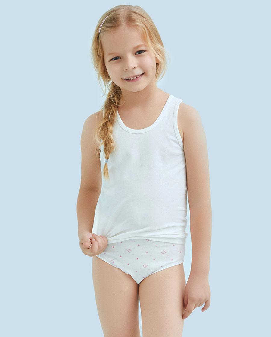 Aimer Kids内裤|ag真人平台儿童天使小裤棉氨纶印花女童中腰三角内裤AK1221212
