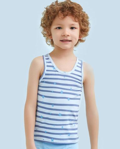 Aimer Kids睡衣|爱慕儿童天使背心modal印花慕尔熊跨栏背心AK2111132