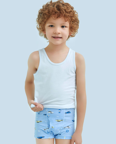 Aimer Kids内裤|爱慕儿童天使小裤MODAL印花中腰平角内裤AK2231203
