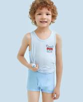 【2件7.5折/5件6折】爱慕儿童天使小裤MODAL印花运动车中腰平角内裤AK2231204