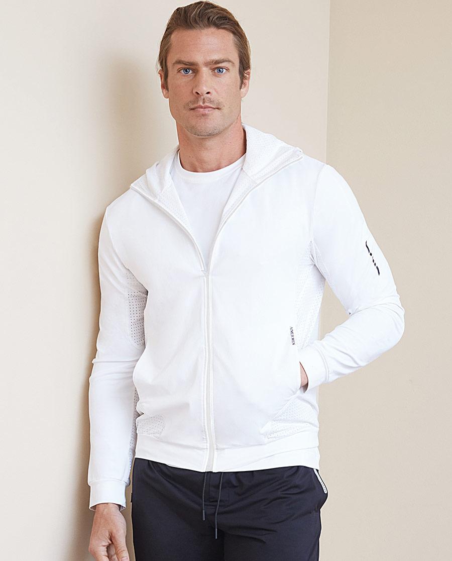 Aimer Men运动装 ag真人平台先生酷感运动帽衫拉链长袖上衣NS62B723