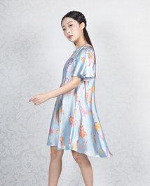 【荷意年年系列】露肩宽松散摆连衣裙HJ21216