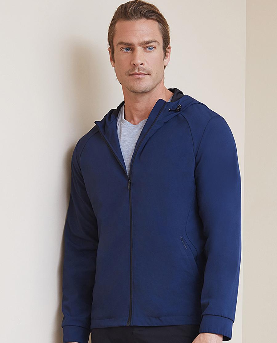 Aimer Men睡衣 ag真人平台先生轻休闲系列拉链长袖帽衫NS81B772