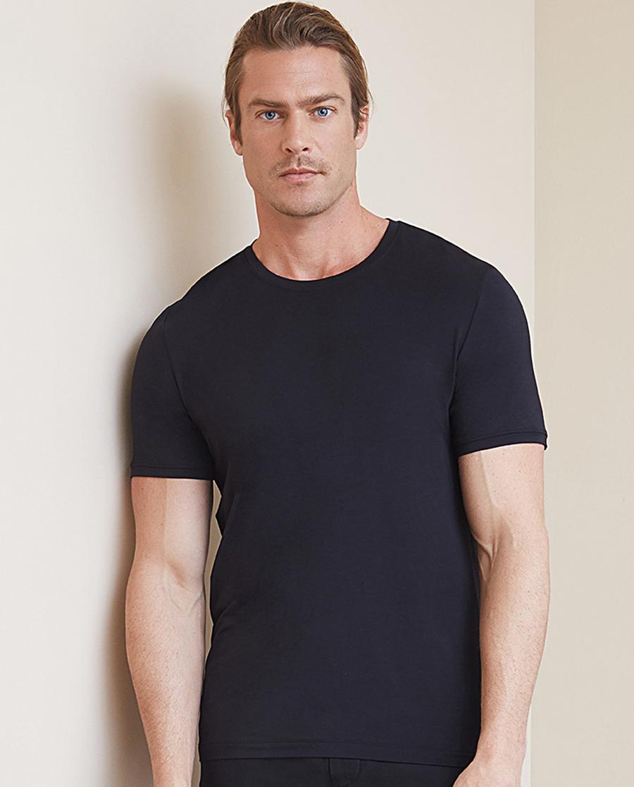Aimer Men睡衣|爱慕先生绅士百搭T系列圆领短袖上衣NS81B821