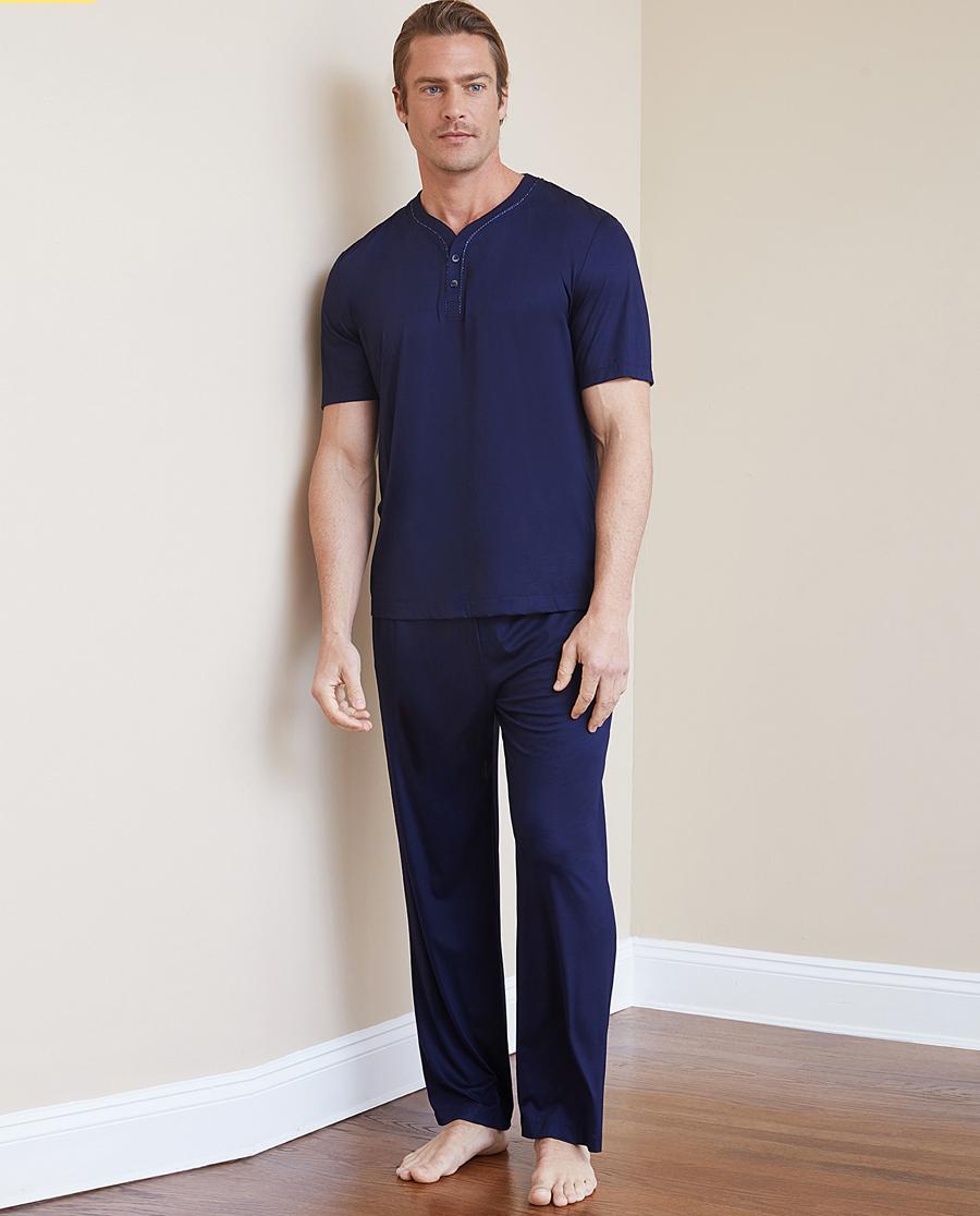 Aimer Men睡衣 ag真人平台先生纵享丝滑家居长裤NS42C091