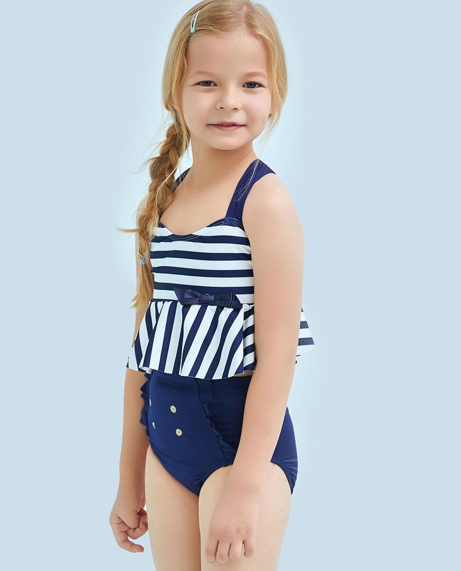 Aimer Kids泳衣|爱慕儿童航海条纹分身泳衣AK1671531