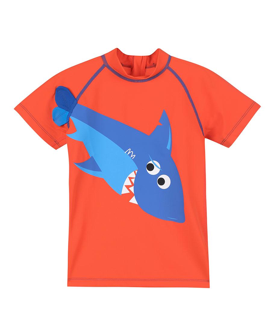 Aimer Kids泳衣|爱慕儿童鲨鱼部落短袖泳衣AK267155