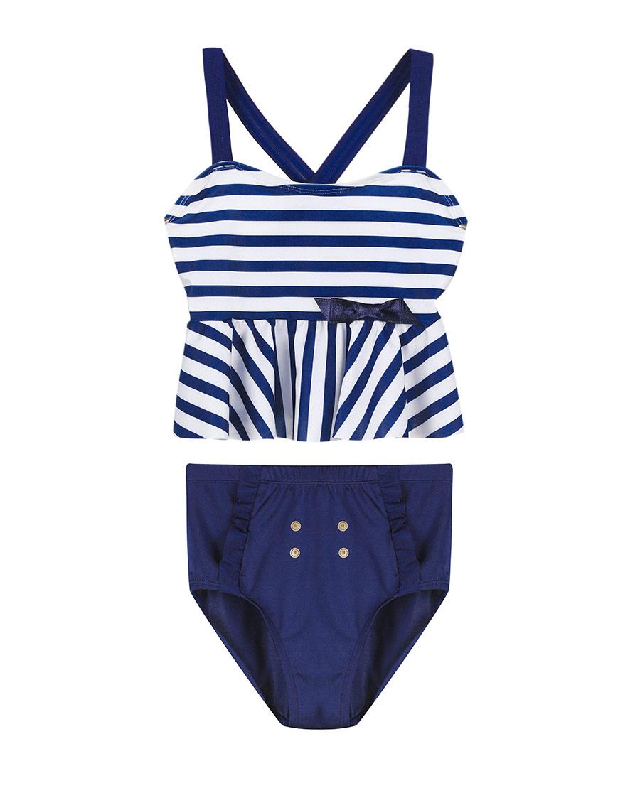 Aimer Kids泳衣|爱慕儿童航海条纹分身泳衣AK167153