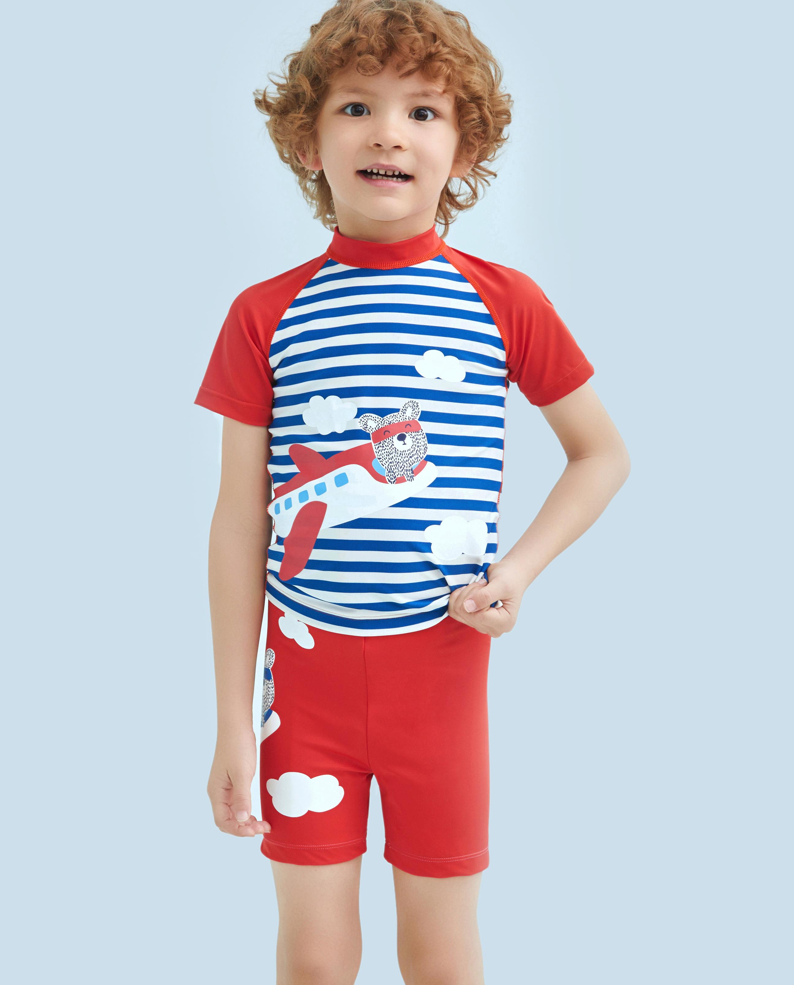 Aimer Kids泳衣|爱慕儿童条纹飞机泳裤AK2671562