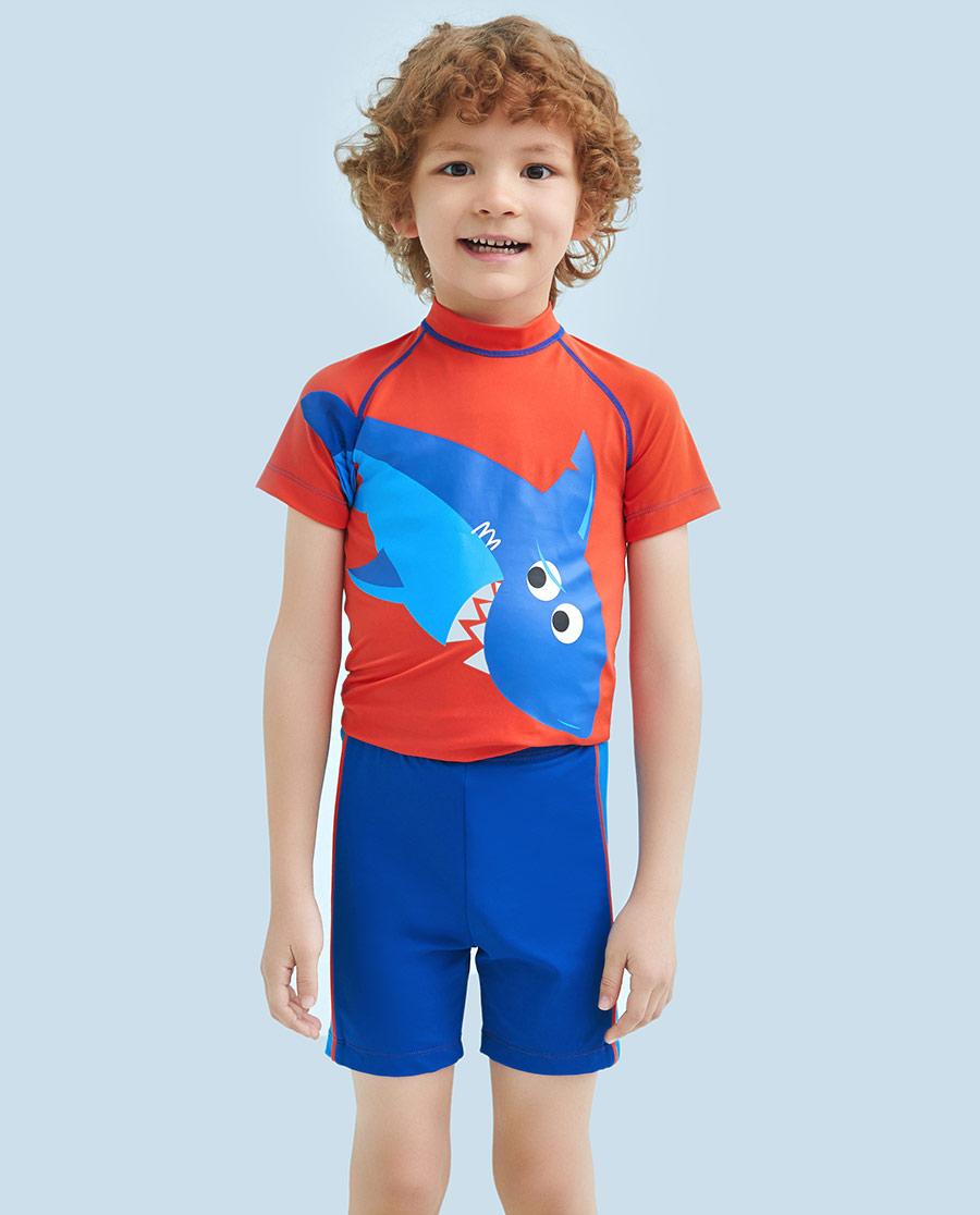 Aimer Kids泳衣|ag真人平台儿童鲨鱼部落泳裤AK2671553