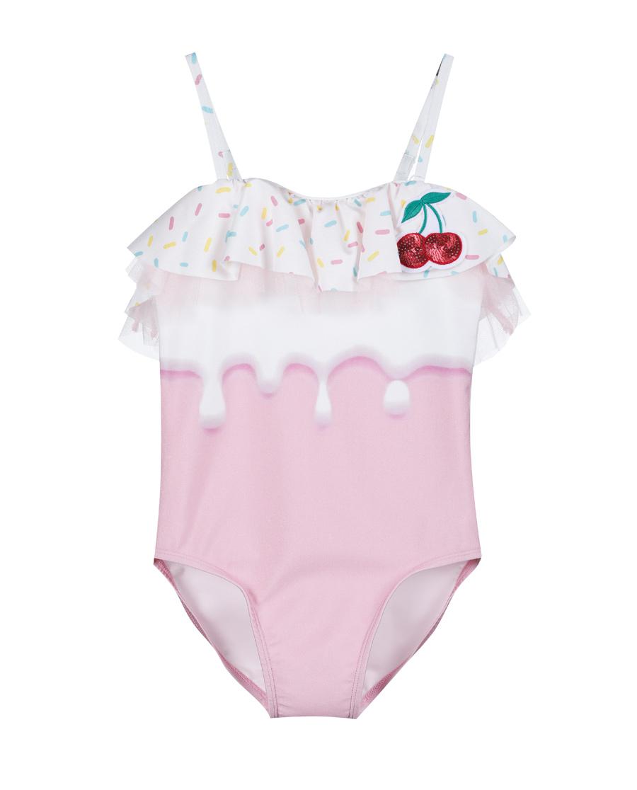 Aimer Kids泳衣|爱慕儿童樱桃冰淇淋连体泳衣AK16715
