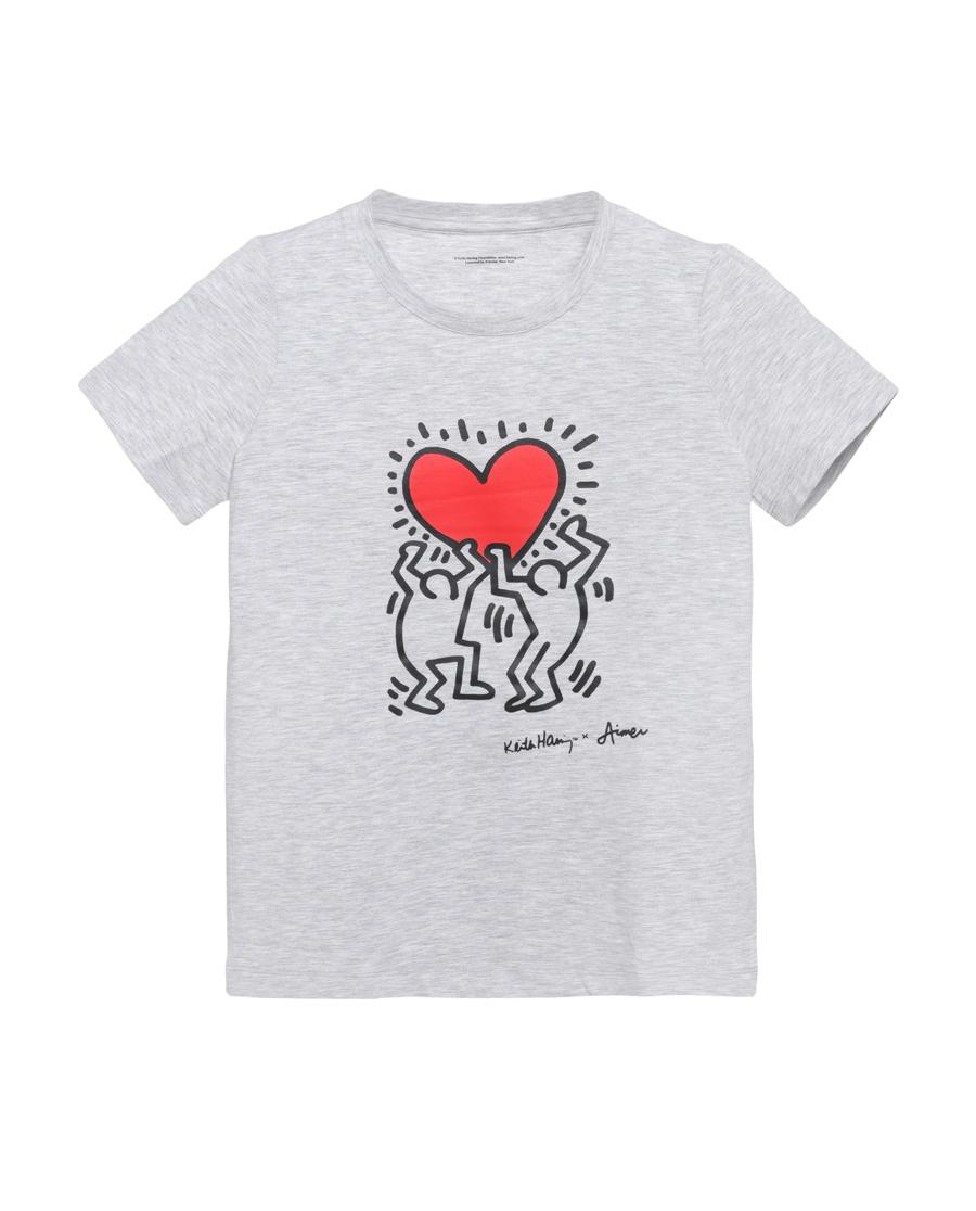 Aimer Kids睡衣 爱慕儿童Keith Haring短袖上衣AK2811401